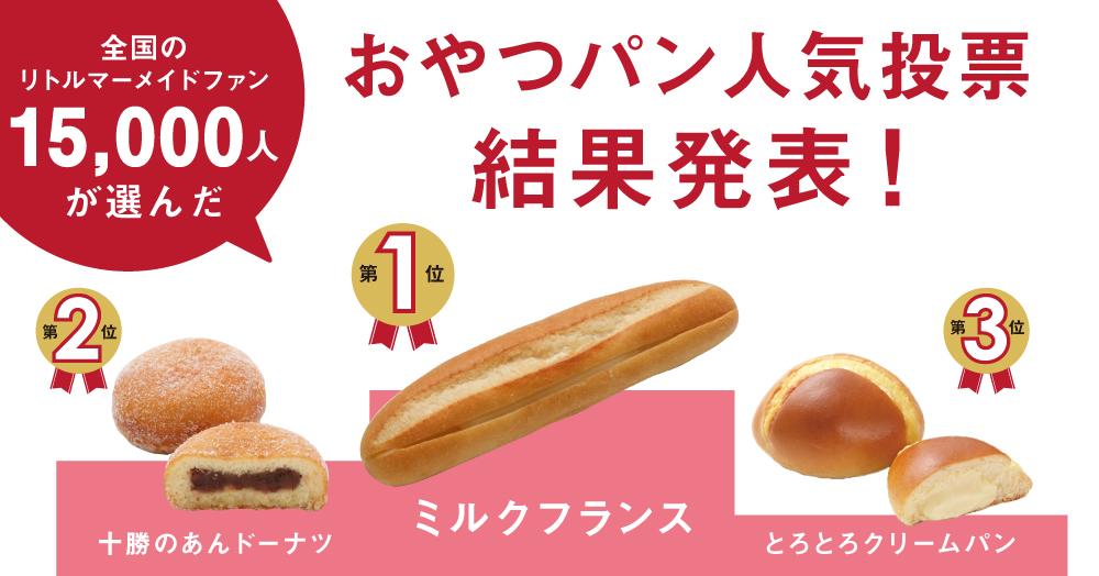おやつパン人気投票結果発表